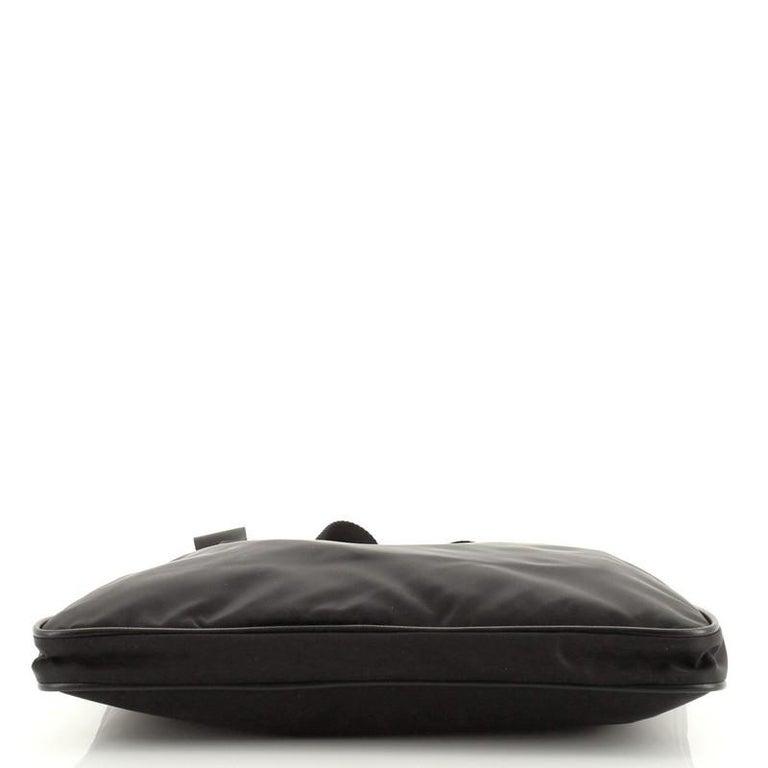 Prada Zip Top Messenger Bag Tessuto Large For Sale 1
