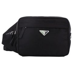 Prada Zip Waist Bag Tessuto Small