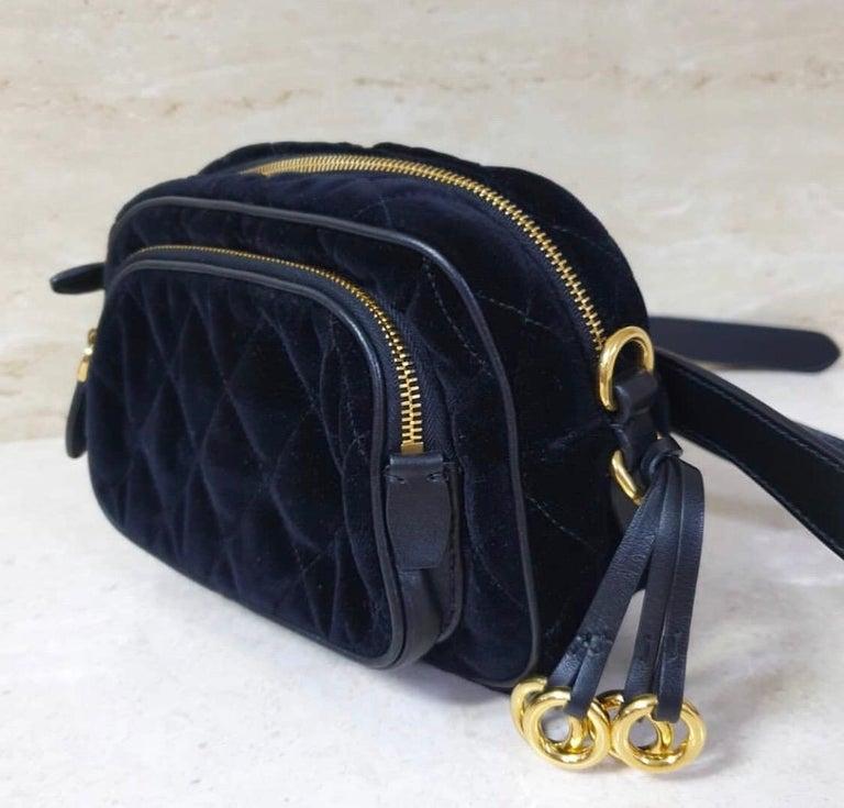 Women's PradaCahier Small Velvet Convertible Belt Bag