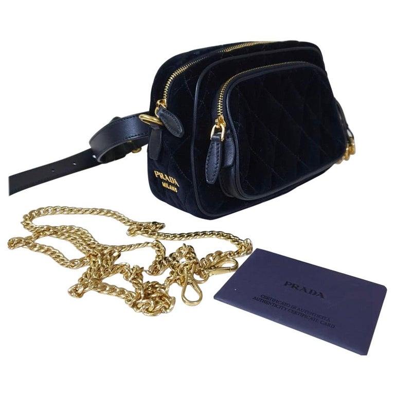 PradaCahier Small Velvet Convertible Belt Bag