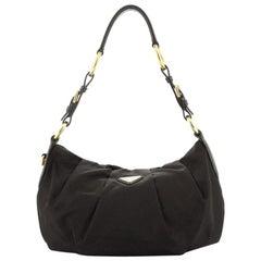 PradaPleated Shoulder Bag Tessuto Medium