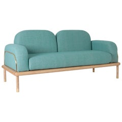"""Prado"" Sofa in Parota Wood and Copper or Brass"