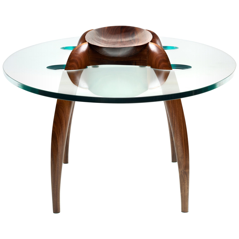 Pragmatism - Walnut Coffee Table Signed by Gildas Berthelot