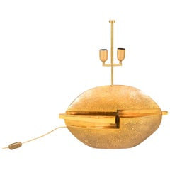 Pragos, Lamp in Gilt Bronze, 1970s