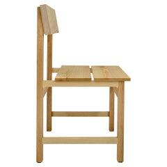 Prairie Chair, Modern Ash Wood Dining Chair, in Stock
