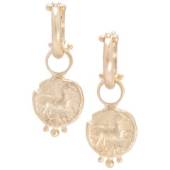 Prancing Horse Drop Earrings and Hoops in 18 Karat Gold