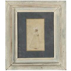 """Praying Man"" Early 20th Century Miniature Persian Painting"