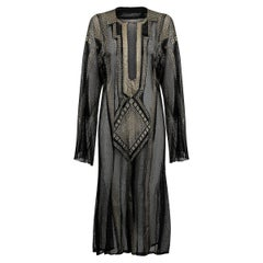Pre 1920s Original Black & Gold Egyptian Assiut Kaftan