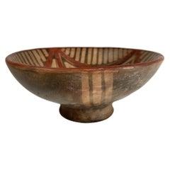Pre Colombian, Ecuadorian Pottery Bowl, Mucawa Drinking Vessel, Geometric Motifs