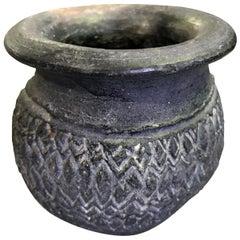 Pre-Columbian Blackware Ceramic Pottery Vase Cup Vessel