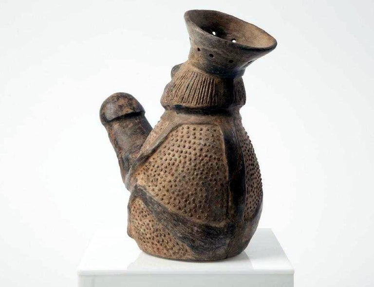Peruvian Pre-Columbian Erotic Pottery from the Chimu Culture For Sale