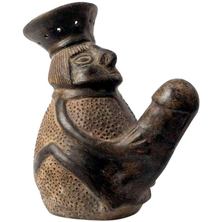 Pre-Columbian Erotic Pottery from the Chimu Culture For Sale
