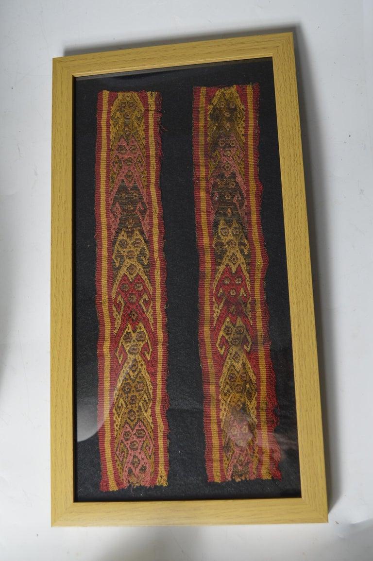 Peruvian Pre Columbian Fine Chancay Textile Panel, circa 1100-1400 AD For Sale