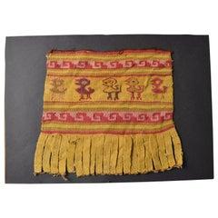 Pre Columbian Fine Chancay Textile Panel, circa 1100-1400 AD