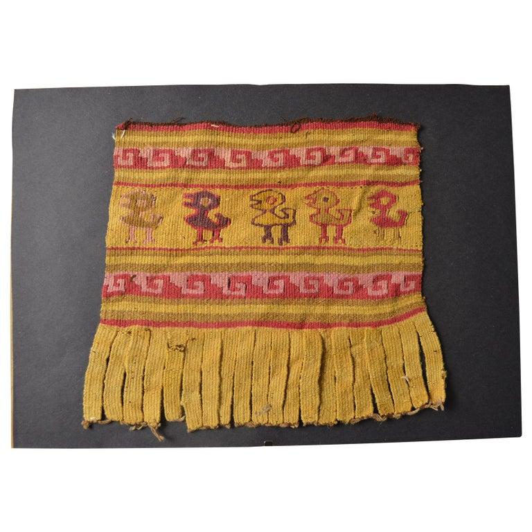 Pre Columbian Fine Chancay Textile Panel, circa 1100-1400 AD For Sale