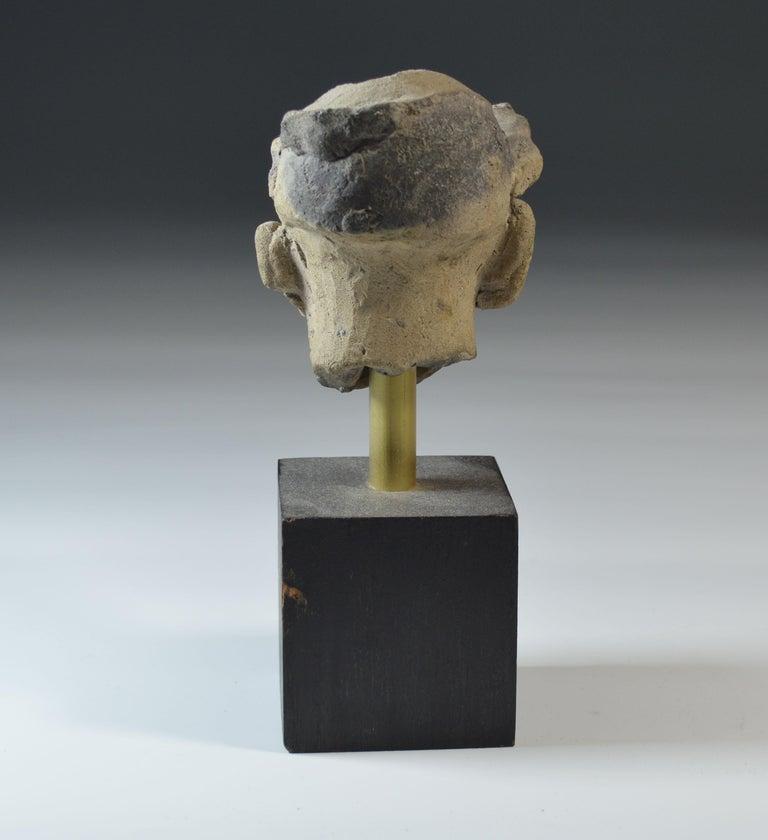 Colombian Pre Columbian La Tolita / Tumaco Pottery Head circa BC 200 Ecuador/ Columbia For Sale