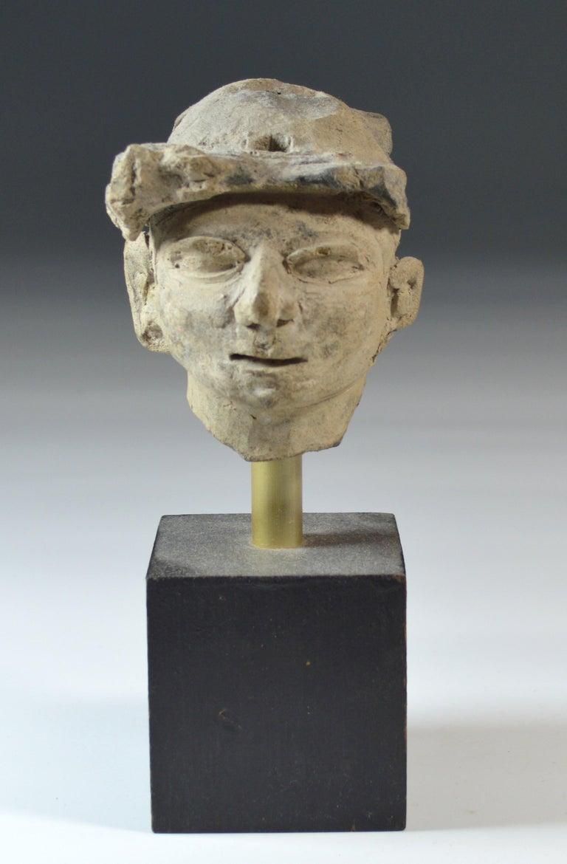 Pre Columbian La Tolita / Tumaco Pottery Head circa BC 200 Ecuador/ Columbia In Good Condition For Sale In London, GB