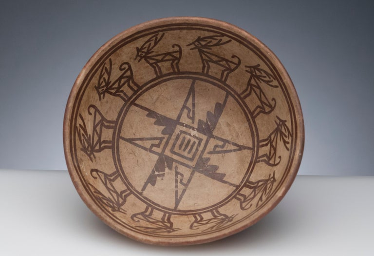 Pre-Columbian Narino Bowl with Deer For Sale 5