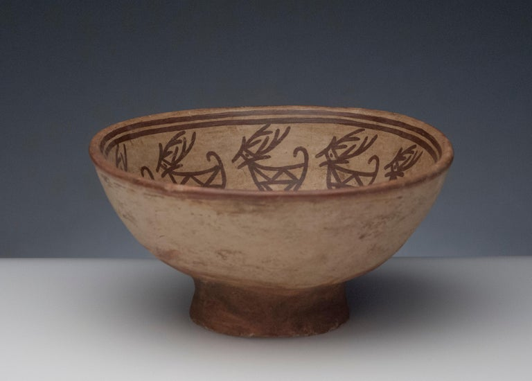 Pre-Columbian Narino Bowl with Deer For Sale 1