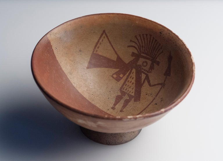 18th Century and Earlier Pre-Columbian Narino Warrior Bowl For Sale