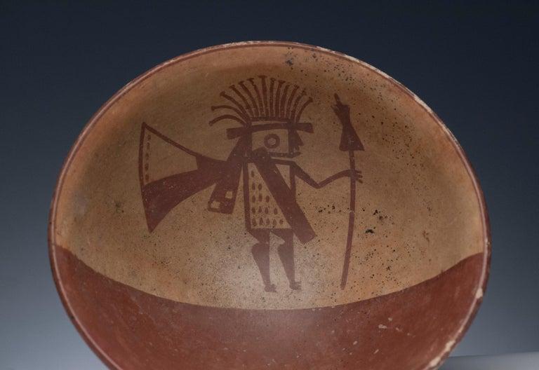 Pottery Pre-Columbian Narino Warrior Bowl For Sale