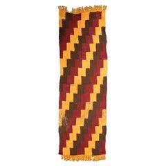 Pre-Columbian Nazca Textile, Stepped Zig-Zag Design, Nazca Peru 200-400 AD