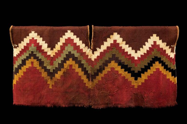 Textile Pre-Columbian Nazca Unku with Stepped Zig-Zag Design, Peru 200-300 AD For Sale