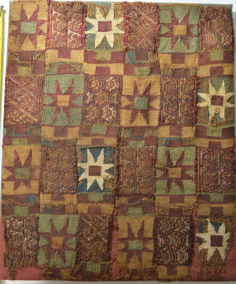Peruvian Pre Columbian Rare Inca Textile Panel For Sale