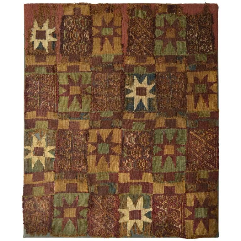 Pre Columbian Rare Inca Textile Panel For Sale