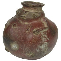 Pre-Columbian Redware Female Form Vessel