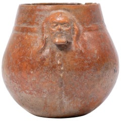 Pre-Columbian Redware Vessel with Face
