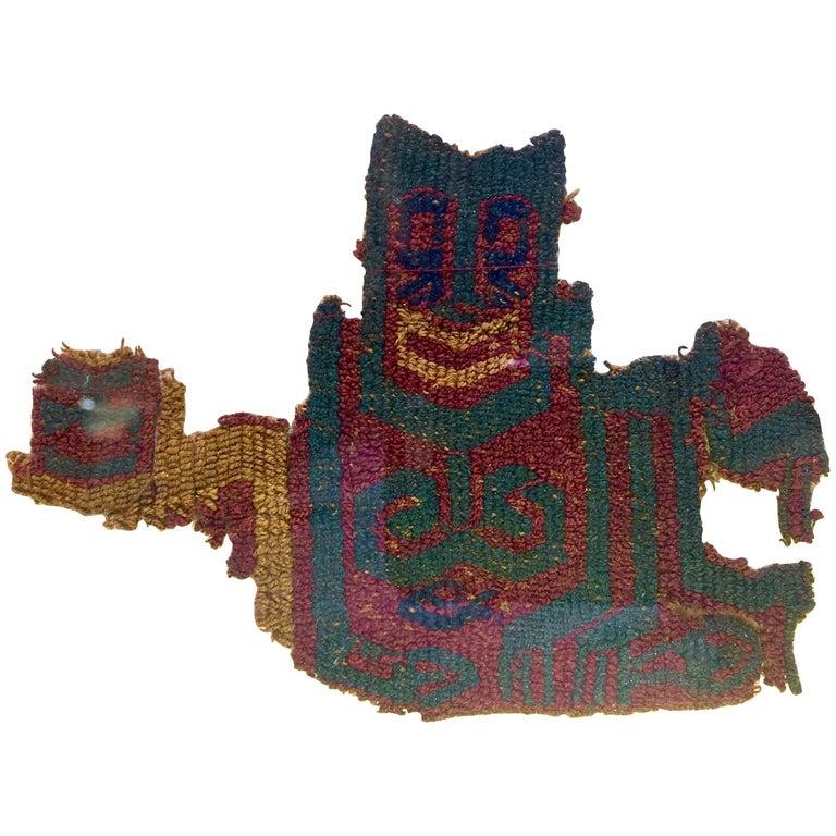 Pre-Columbian Shaman Warrior with Trophy Head Paracas, Peru, circa 800-200 BC For Sale