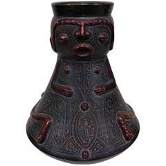 Pre-Columbian Style Figurative Art Pottery Vase