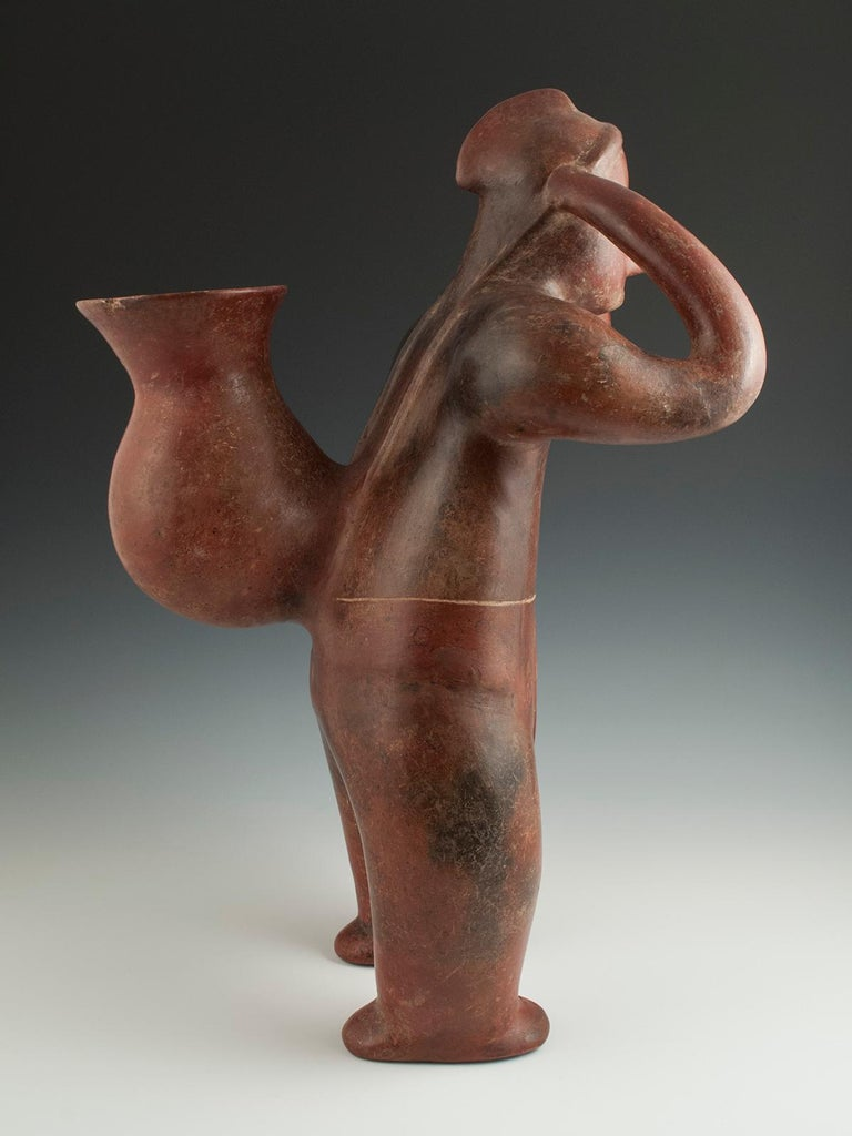 Mexican Pre-Columbian Terracotta Water Carrier 'Cargador' Colima, West Mexico For Sale