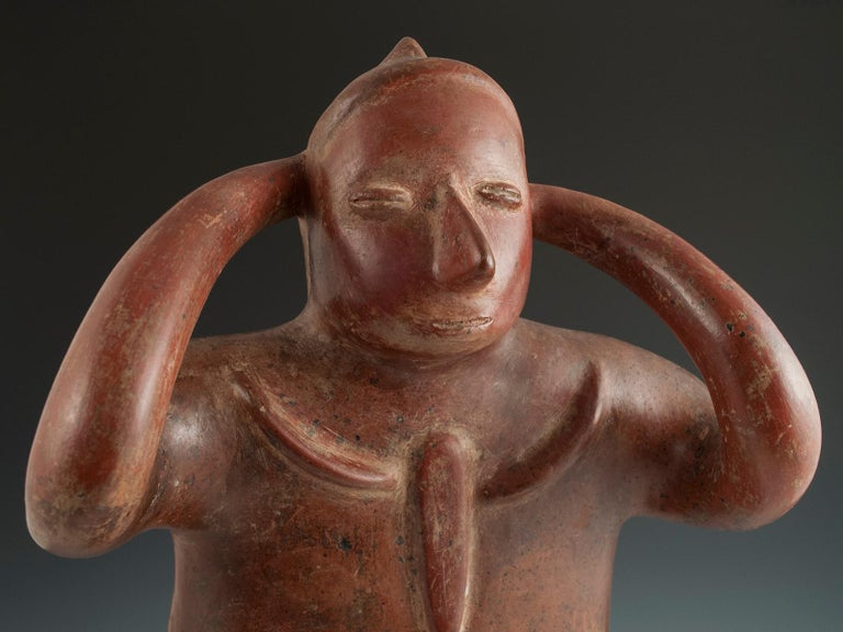 Pre-Columbian Terracotta Water Carrier 'Cargador' Colima, West Mexico For Sale 1