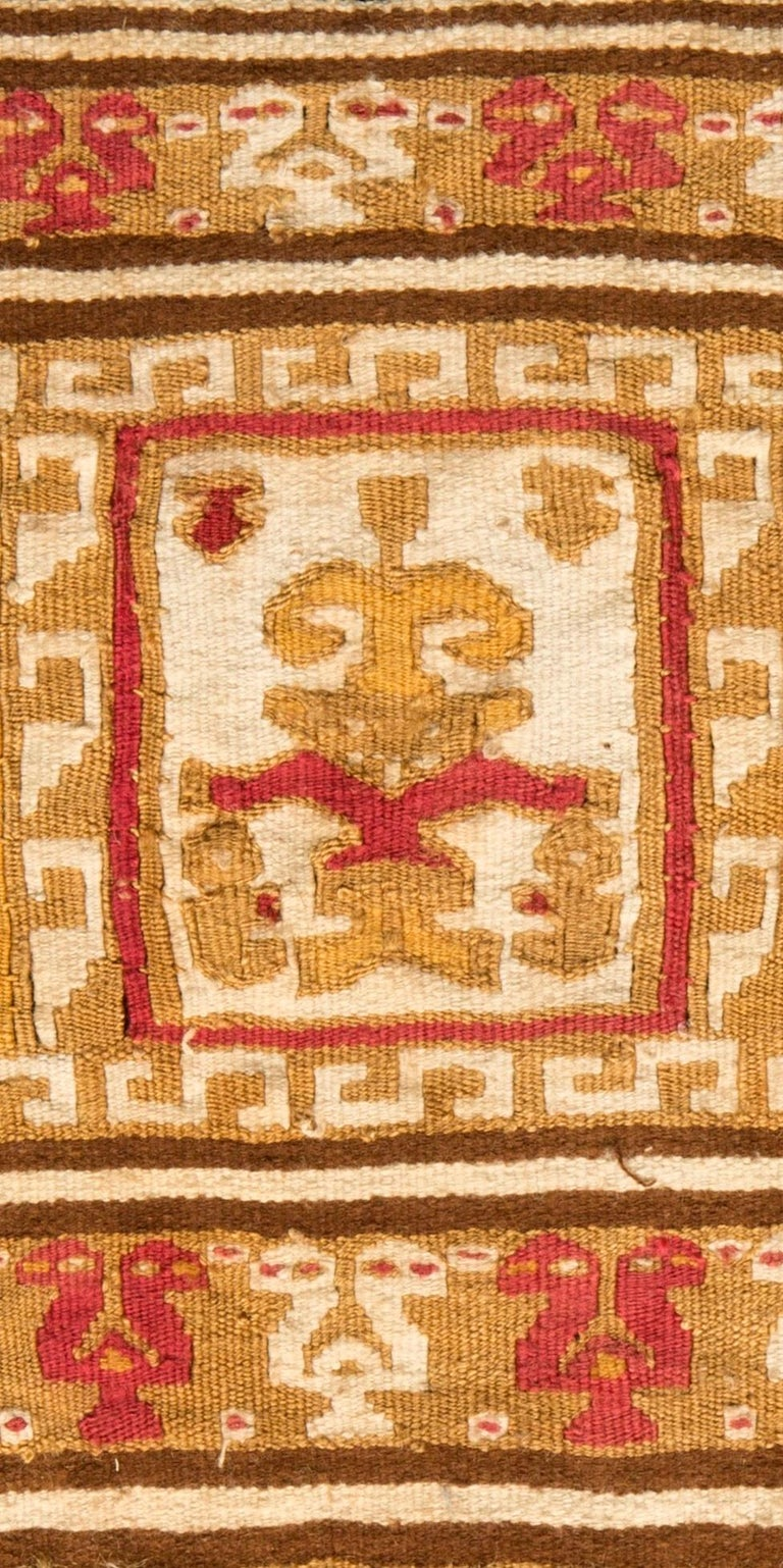 18th Century and Earlier Pre-Columbian Warrior Banner, Chimu, Peru, circa 1100-1476 AD For Sale