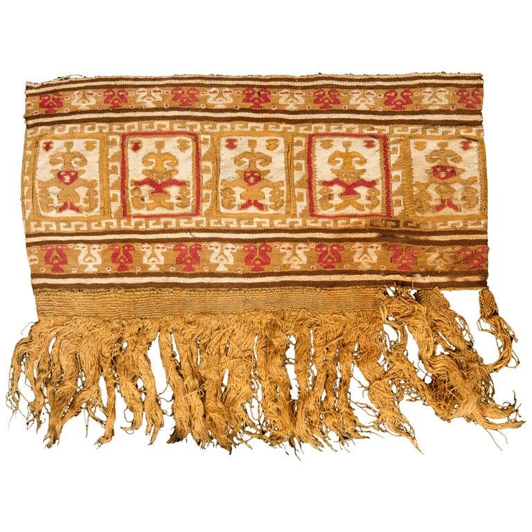 Pre-Columbian Warrior Banner, Chimu, Peru, circa 1100-1476 AD For Sale