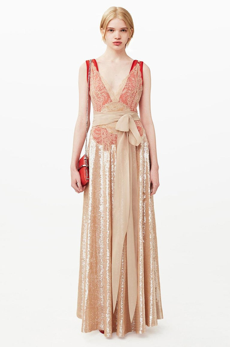 Pre-Fall 2015 Ricardo Tisci for Givenchy Black Silk Satin & Lace Dress For Sale 10