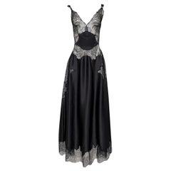 Pre-Fall 2015 Ricardo Tisci for Givenchy Black Silk Satin & Lace Dress