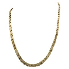Pre-Owned 14 Carat Yellow Fancy Gold Curb Chain