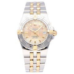 Pre-Owned Breitling Starliner Stainless Steel and Yellow Gold B71340 Watch