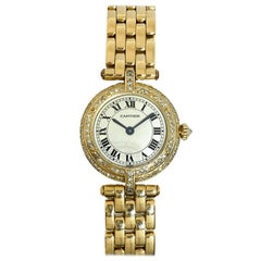 Pre-Owned Cartier Lady's Panthere Vendome Diamond Watch 18Ky Gold Quartz