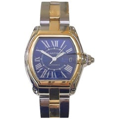 Pre-Owned Cartier Limited Edition Roadster Centennial Blue Dial Steel & 18k