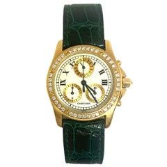 Pre-Owned Cartier Santos Ronde Chronoreflex Boutique Exclusive Diamond Watch