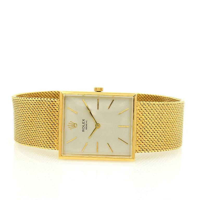 Pre-Owned Circa 1960's 18 Karat Yellow Gold Rolex Cellini For Sale 1