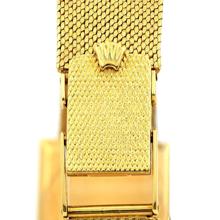 Pre-Owned Circa 1960's 18 Karat Yellow Gold Rolex Cellini For Sale 2