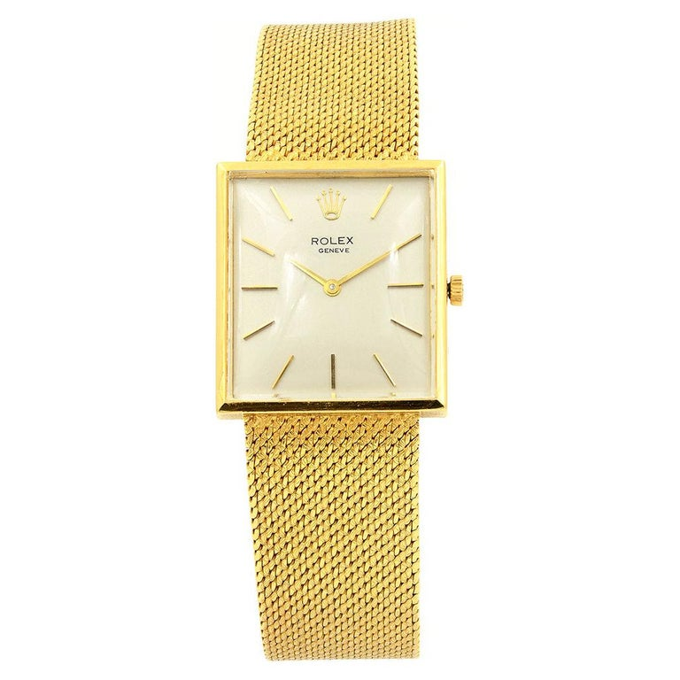 Pre-Owned Circa 1960's 18 Karat Yellow Gold Rolex Cellini For Sale