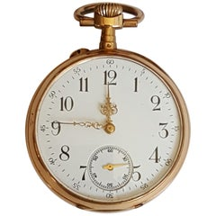 Vintage 19th Century Solid Gold Pocket Watch, Working, Avance Retard Movement