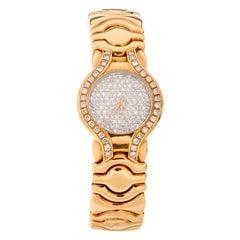 Pre-Owned Ladies Platinum Diamond 18 Karat Cuff Watch