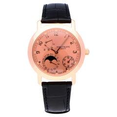 Pre-Owned Patek Philippe Calatrava 18 Karat Rose Gold 5055R Watch